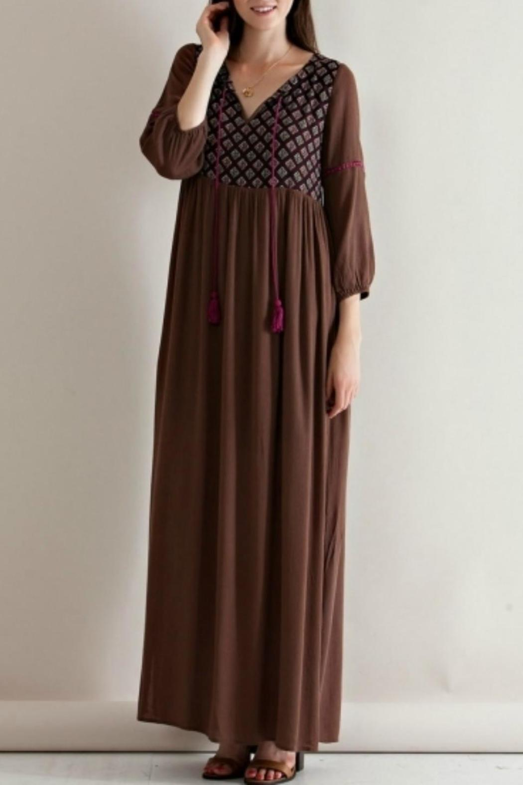 Entro Autumn Life Dress - Front Cropped Image