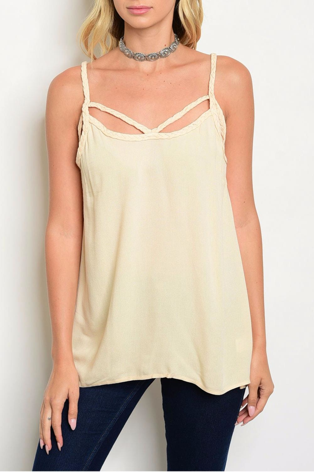 Entro Beige Tank - Front Cropped Image