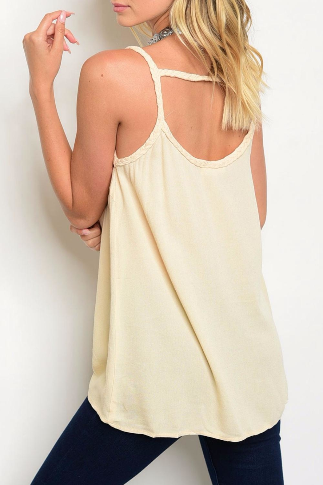 Entro Beige Tank - Side Cropped Image