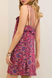 Entro Berry Strapped Dress - Back cropped