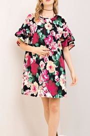 Entro Black Floral Dress - Product Mini Image