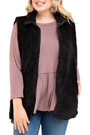 Entro Black Fur Vest - Product Mini Image