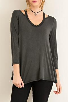 Shoptiques Product: Black Jersey Top