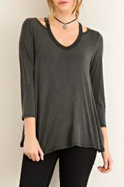Entro Black Jersey Top - Product Mini Image