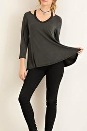 Entro Black Jersey Top - Front full body