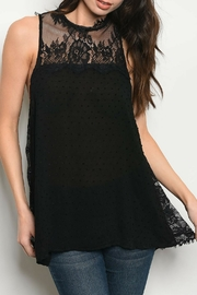 Entro Black Lace Top - Product Mini Image