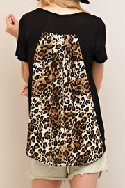 Entro Black Leopard Top - Back cropped