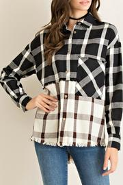 Entro Blocked Plaid Top - Product Mini Image