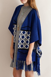 Entro Blue Kimono Sweater - Side cropped