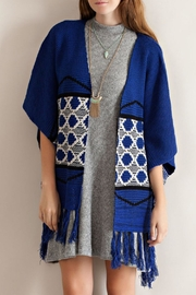 Entro Blue Kimono Sweater - Front full body