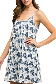 Entro Blue Palms Dress - Product Mini Image