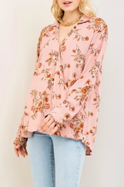 Entro Blush Floral Top - Product Mini Image