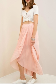 Entro Blush Pleated Skirt - Product Mini Image