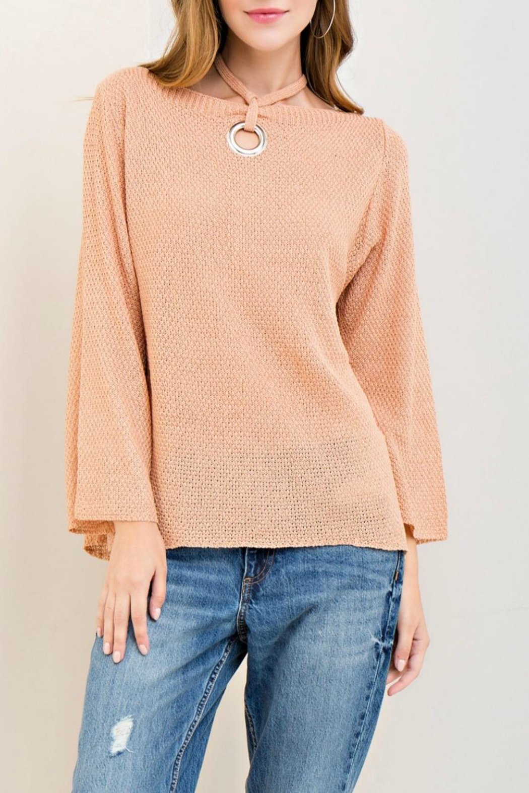 Entro Boat Neck Sweater - Front Cropped Image