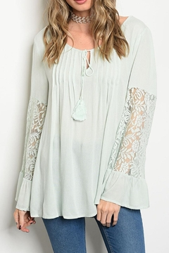 Shoptiques Product: Boho Lace Sleeve Top