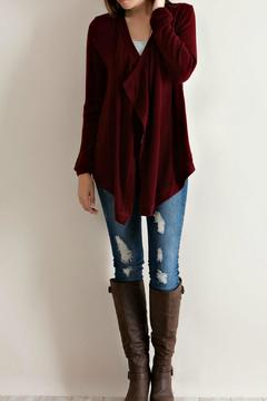 Entro Burgundy Sequin Sweater - Product List Image
