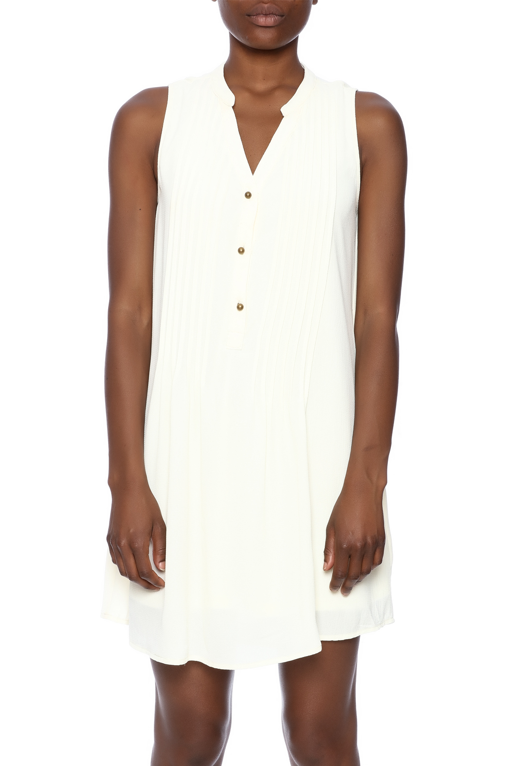 Entro Button Down Dress - Side Cropped Image