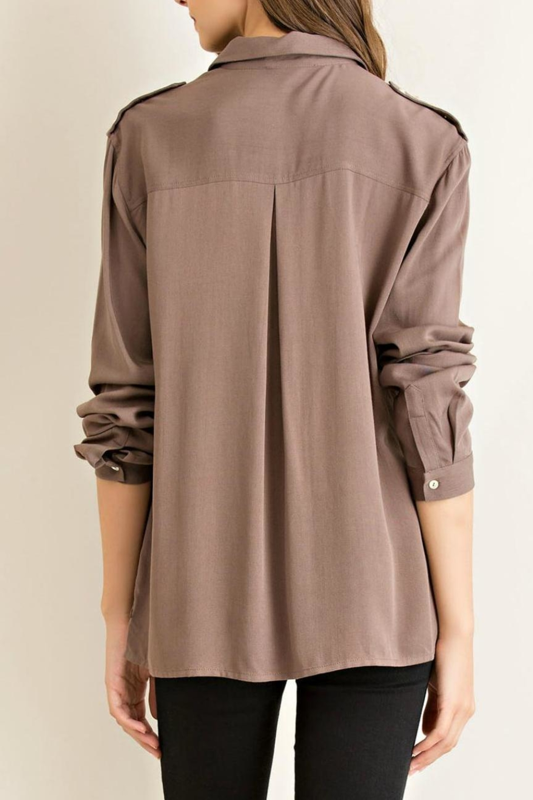 Entro Button Down Shirt - Side Cropped Image