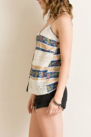 Entro Button-Down Tank Top - Front full body