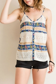 Entro Button-Down Tank Top - Front cropped