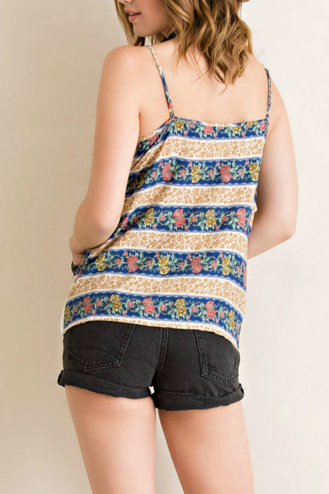 Entro Button-Down Tank Top - Side Cropped Image