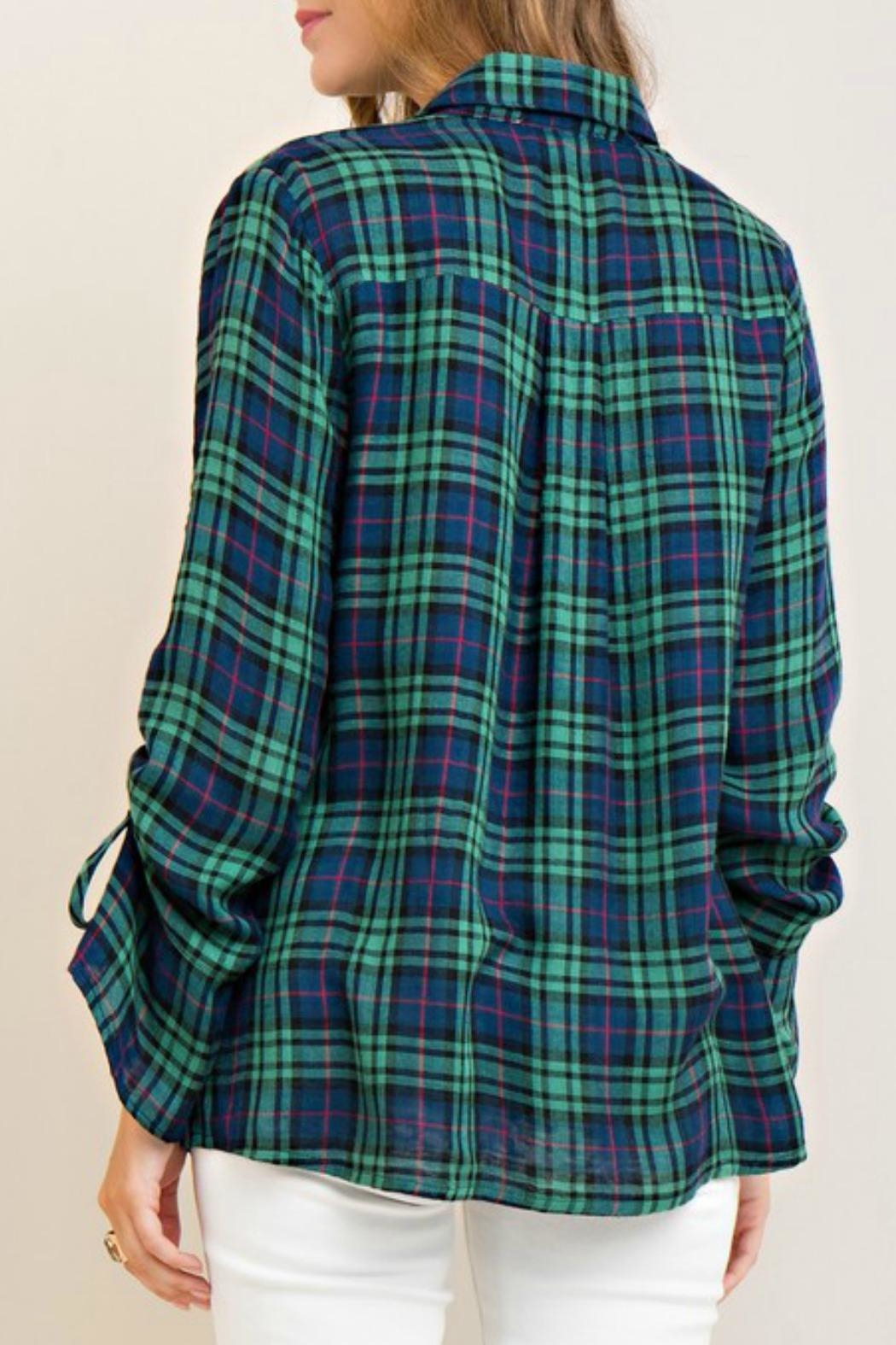 Entro Button Down Top - Side Cropped Image