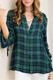Entro Button Down Top - Front cropped