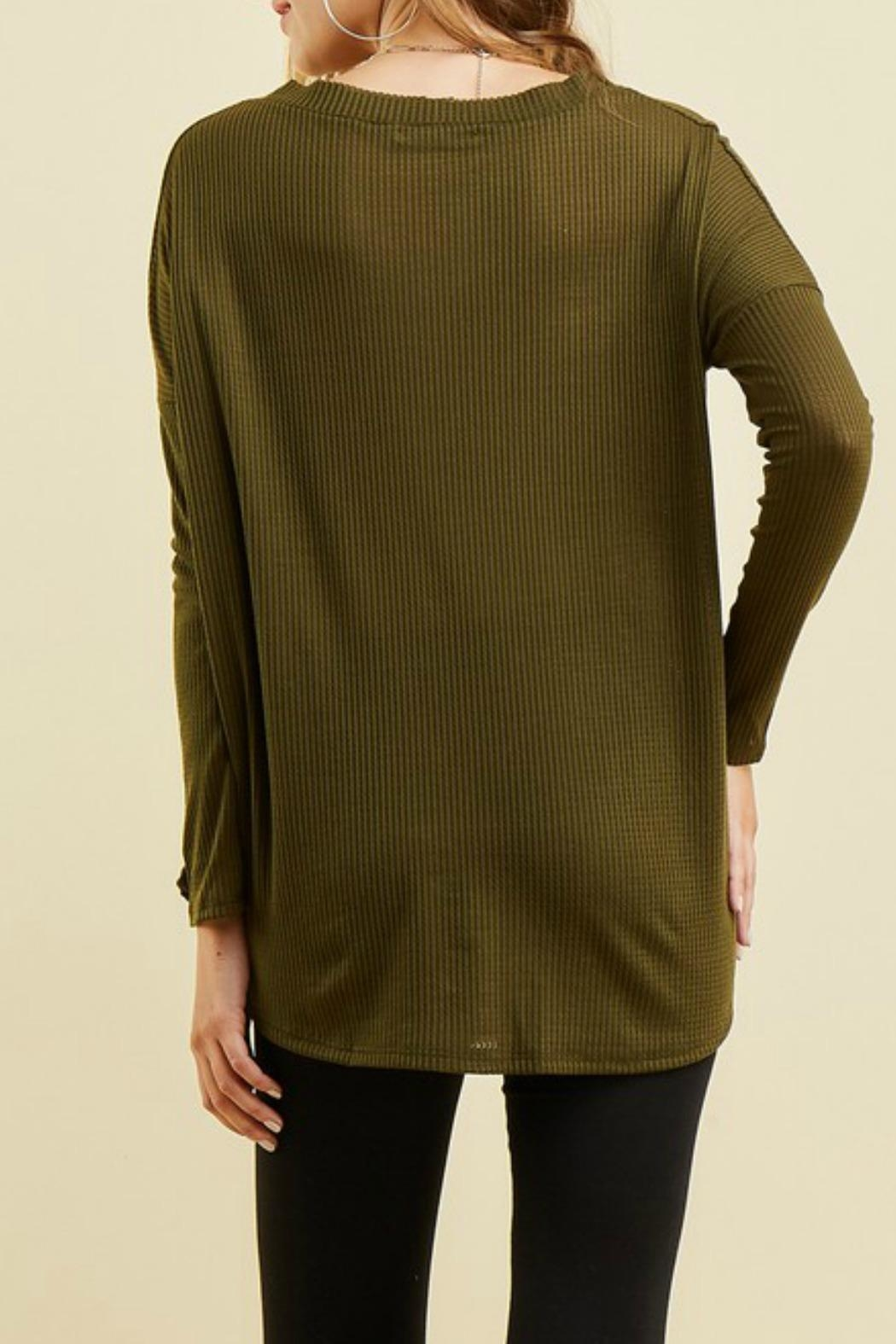 Entro Button Up Thermal - Back Cropped Image