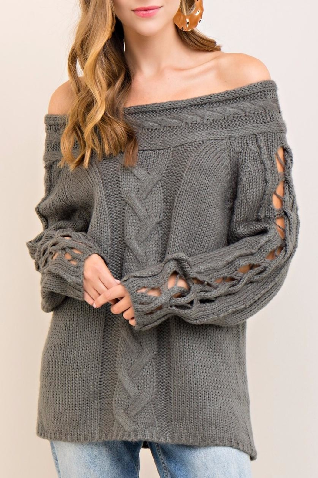 Entro Cable Knit Sweater - Main Image