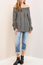 Entro Cable Knit Sweater - Front full body