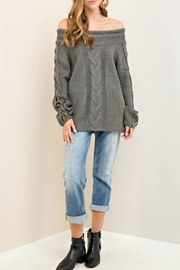Entro Cable Knit Sweater - Product Mini Image