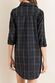 Entro Charcoal Plaid Tunic - Side cropped