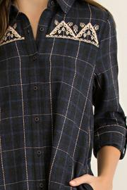 Entro Charcoal Plaid Tunic - Front cropped
