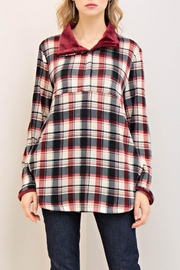 Entro Check Print Sweater - Front cropped