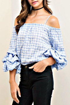 Shoptiques Product: Check Rumba Sleeve Top