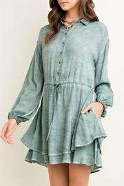 Entro Cinched Waist Shirt Dress - Product Mini Image