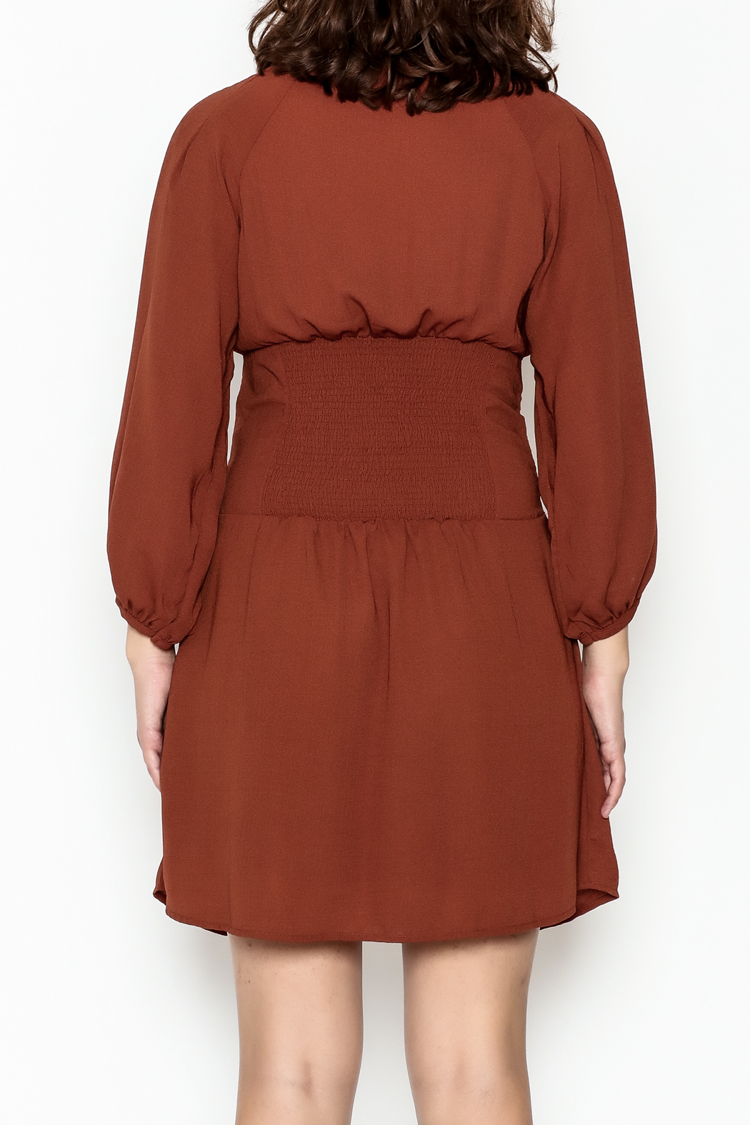 Entro Cinnamon Cinch Dress - Back Cropped Image