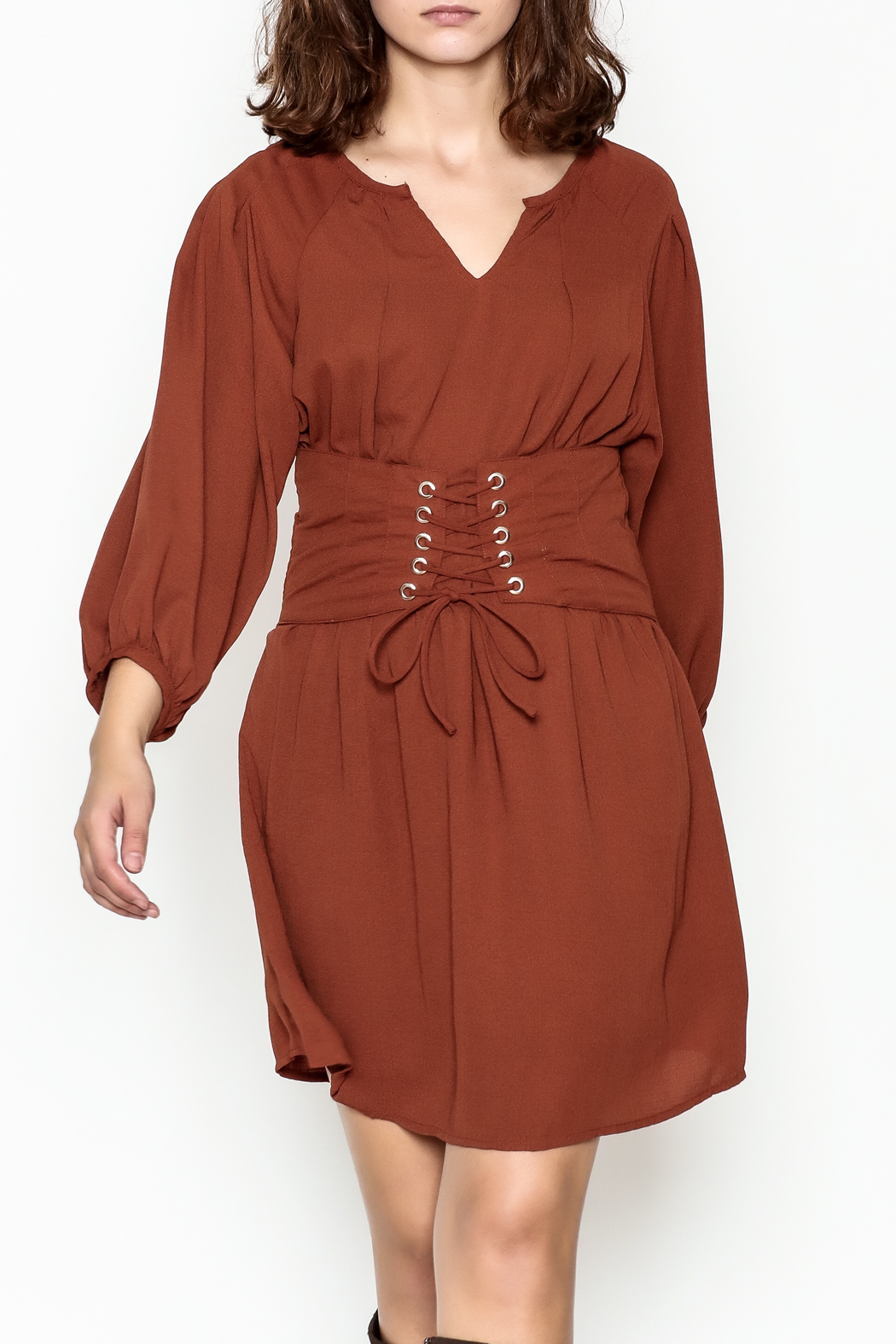 Entro Cinnamon Cinch Dress - Main Image