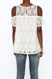 Entro Cream Lace Top - Back cropped