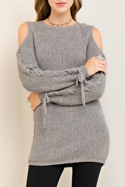 Entro Cold Lace Up Sweater - Product Mini Image