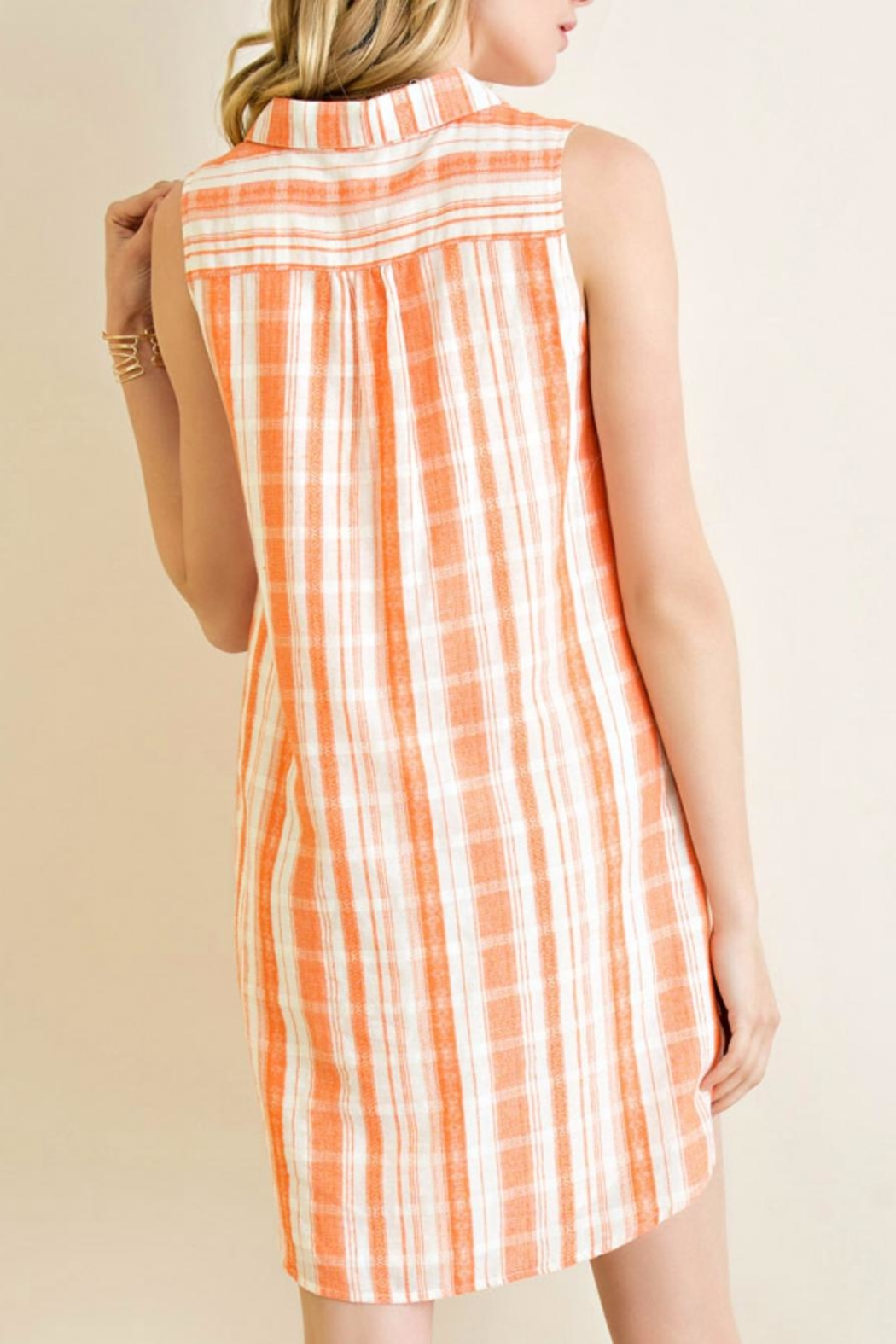 Entro Collared T-Shirt Dress - Side Cropped Image
