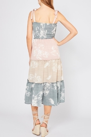 Entro Colorblocked Floral Dress - Back cropped