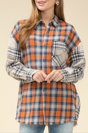 Entro Contrast Plaid Top - Product Mini Image