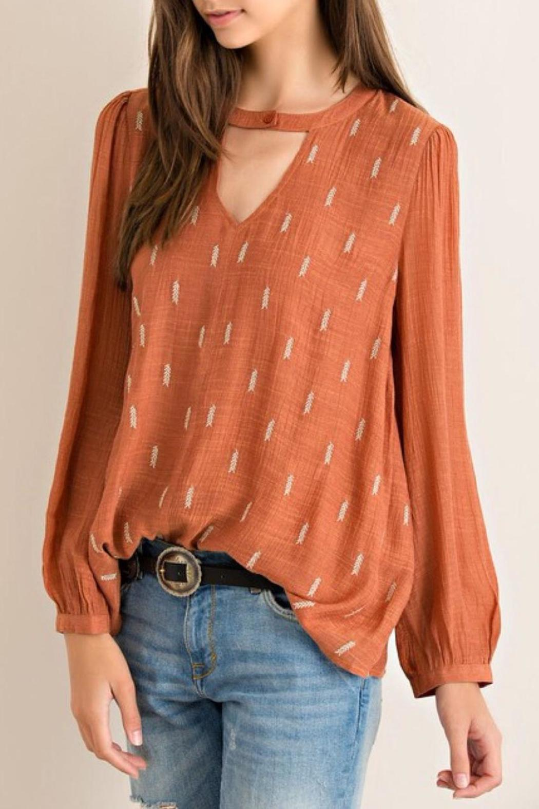 Entro Crinkled Blouse - Front Full Image