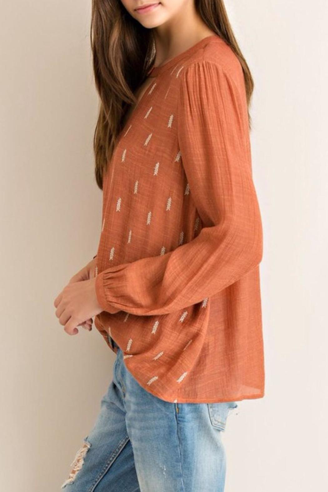 Entro Crinkled Blouse - Side Cropped Image