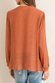 Entro Crinkled Blouse - Back cropped