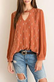 Entro Crinkled Blouse - Front cropped