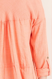 Entro Crinkled Button Down Top - Other