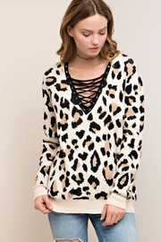 Entro Criss Cross Sweater - Front cropped