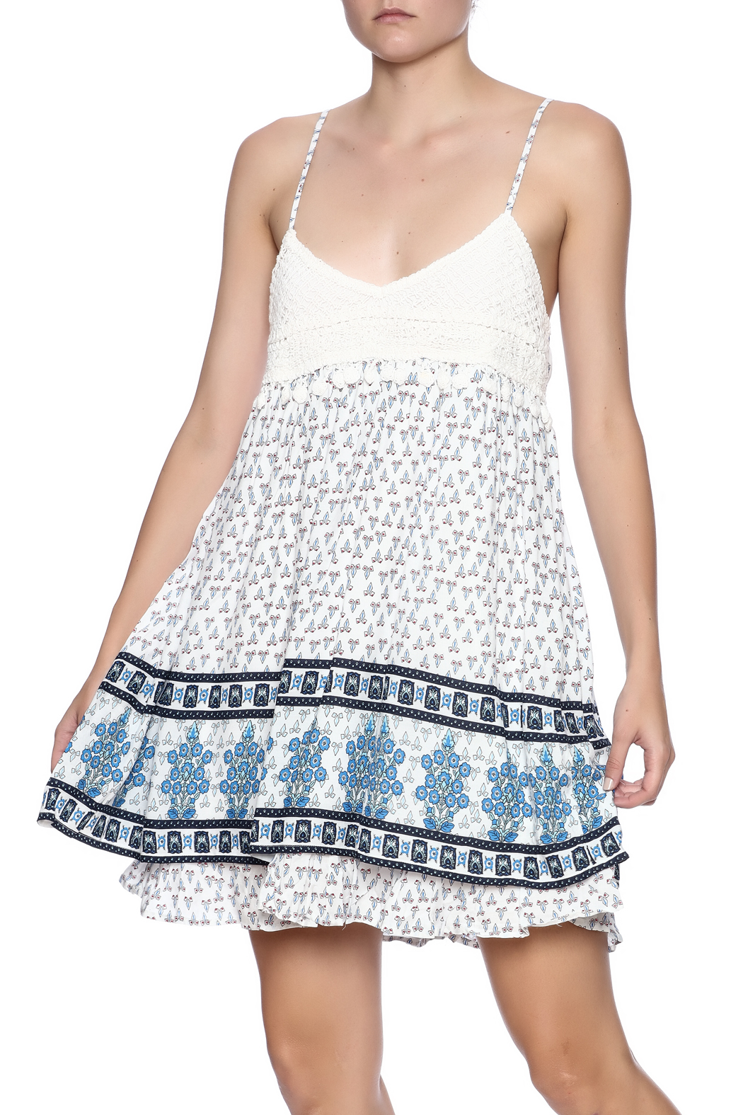 Entro Crochet Babydoll Dress - Main Image